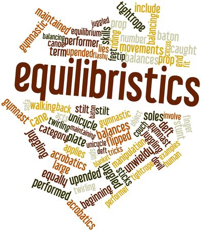 twirling: Abstract word cloud for Equilibristics with related tags and terms