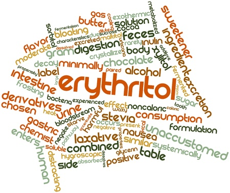 sweetener: Abstract word cloud for Erythritol with related tags and terms
