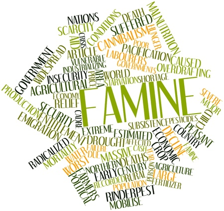 famine: Abstract word cloud for Famine with related tags and terms