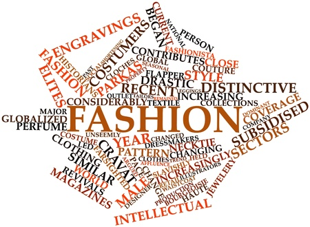Abstract word cloud for Fashion with related tags and terms