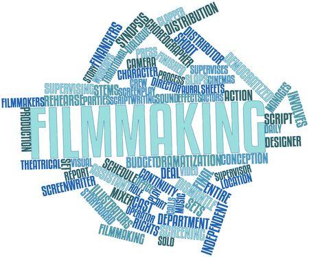 screenwriter: Word cloud astratto per Filmmaking con tag correlati e termini Archivio Fotografico