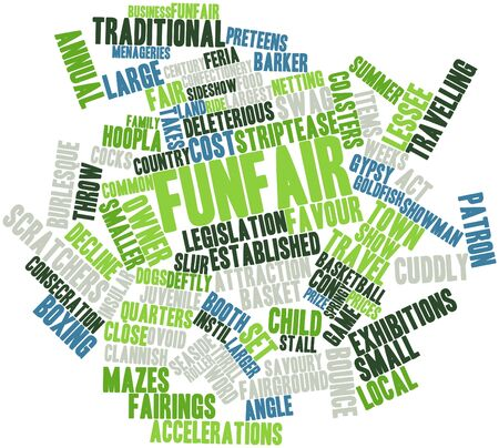 lessee: Abstract word cloud for Funfair with related tags and terms