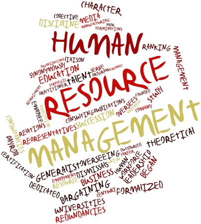 human resource management: Abstract word cloud for Human resource management with related tags and terms
