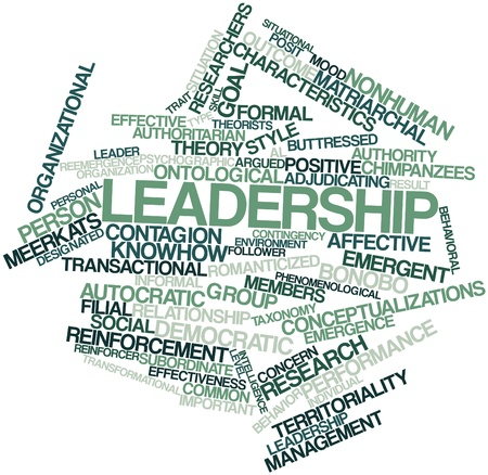 transactional: Abstract word cloud for Leadership with related tags and terms