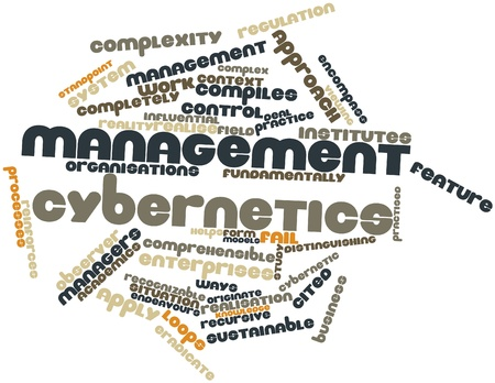 Abstract word cloud for Management cybernetics with related tags and terms Stock Photo - 15996315