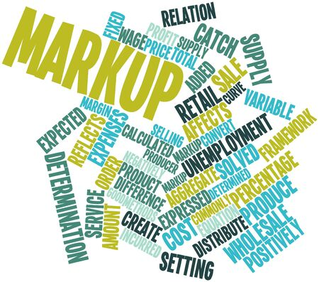 Abstract word cloud for Markup with related tags and terms Stock Photo - 15997890