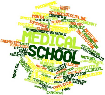 eligible: Abstract word cloud for Medical school with related tags and terms