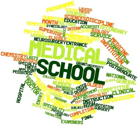 eligible: Word cloud astratto per la scuola medica con tag correlati e termini