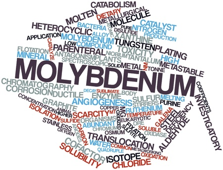Abstract word cloud for Molybdenum with related tags and terms Stock Photo - 15997900