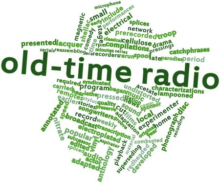 remotes: Abstract word cloud for Old-time radio with related tags and terms