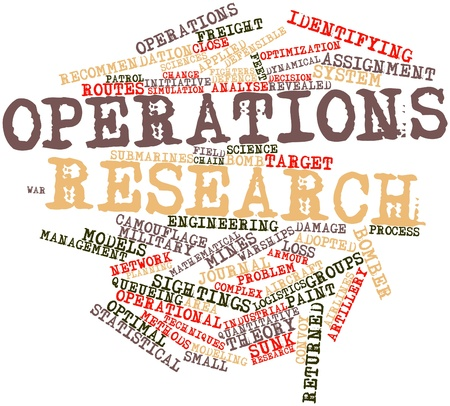 optimal: Abstract word cloud for Operations research with related tags and terms
