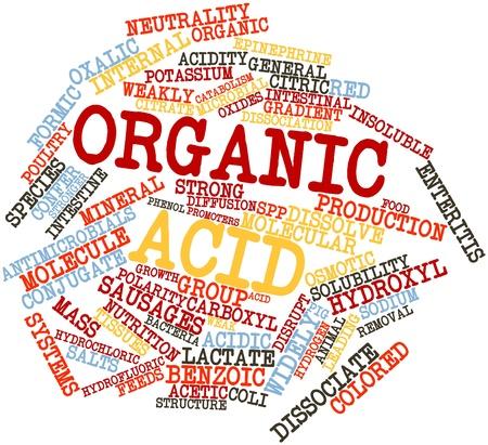 関連するタグと用語の有機酸の抽象的な単語雲