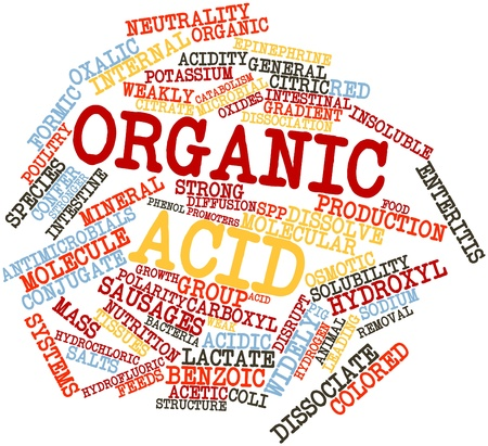benzoic: Abstract word cloud for Organic acid with related tags and terms