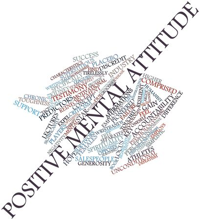 Abstract word cloud for Positive mental attitude with related tags and terms