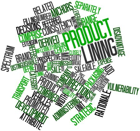 rationale: Abstract word cloud for Product lining with related tags and terms