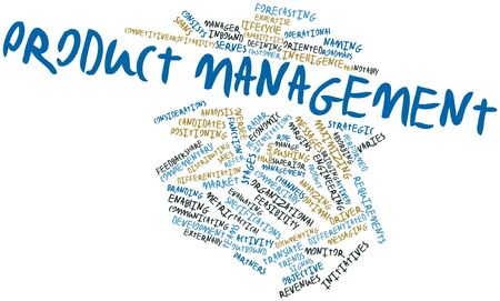product development: Abstract word cloud for Product management with related tags and terms Stock Photo