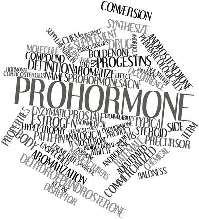 hormonal: Abstract word cloud for Prohormone with related tags and terms
