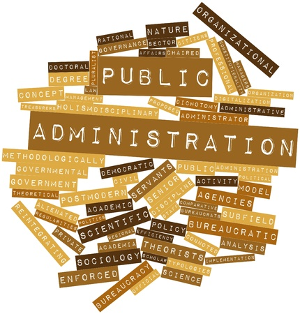 public service: Abstract word cloud for Public administration with related tags and terms