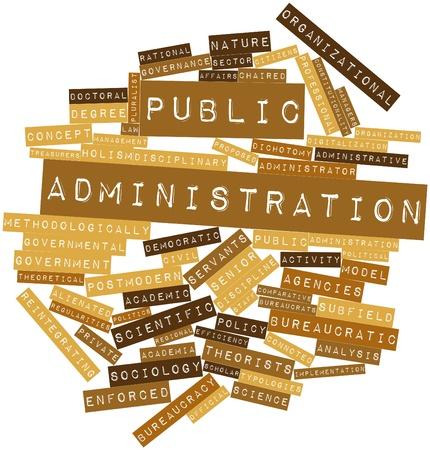 servicios publicos: Nube palabra abstracta para la administración pública con las etiquetas y términos relacionados Foto de archivo