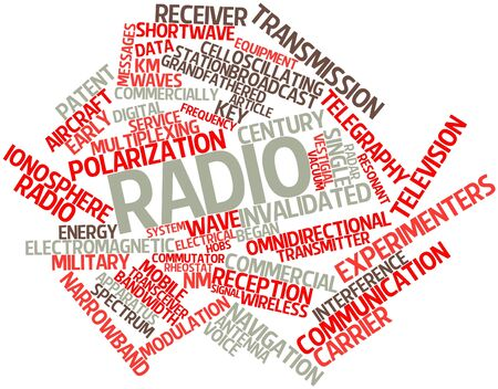 commercially: Abstract word cloud for Radio with related tags and terms