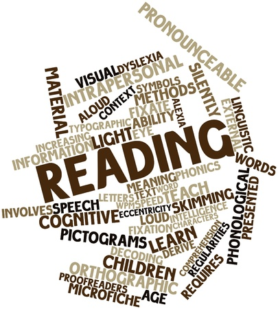 clues: Abstract word cloud for Reading with related tags and terms