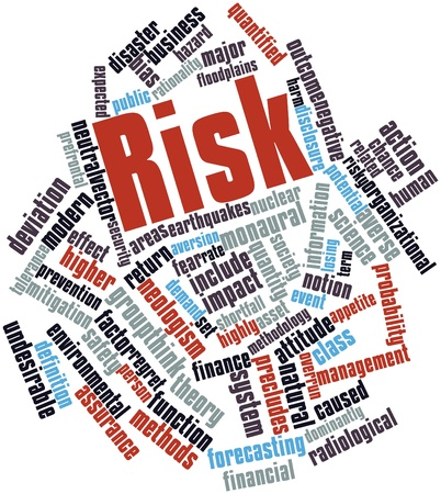 Abstract word cloud for Risk with related tags and terms photo