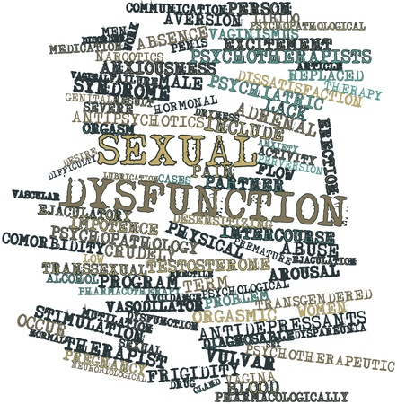 Abstract word cloud for Sexual dysfunction with related tags and terms Stock Photo - 15998493