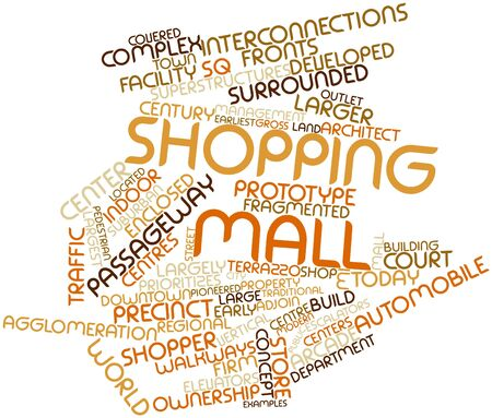spaciousness: Abstract word cloud for Shopping mall with related tags and terms Stock Photo