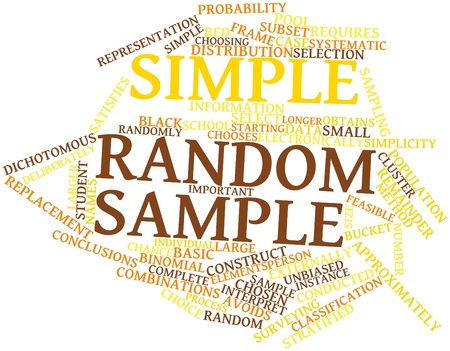 Abstract word cloud for Simple random sample with related tags and terms Stock Photo - 15996502