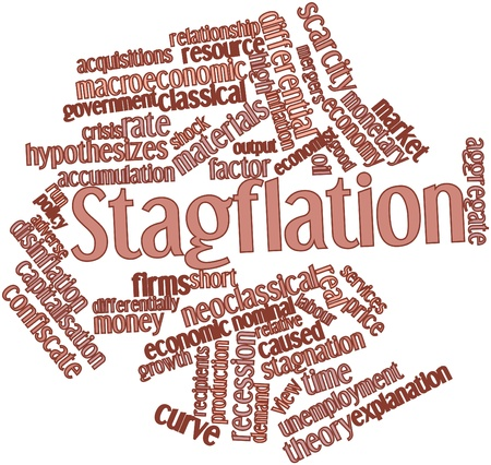 tax policy: Abstract word cloud for Stagflation with related tags and terms