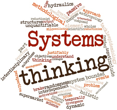 information systems: Abstract word cloud for Systems thinking with related tags and terms Stock Photo