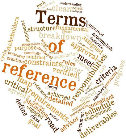 referenz: Abstraktes Wort-Wolke f�r Allgemeine Referenz mit verwandte Tags und Begriffe Lizenzfreie Bilder