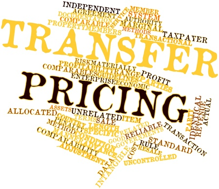 unrelated: Abstract word cloud for Transfer pricing with related tags and terms