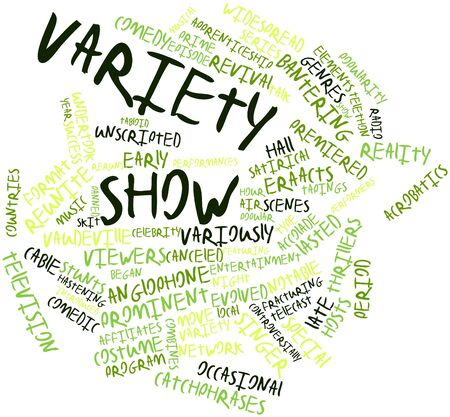 talk show: Abstract word cloud for Variety show with related tags and terms
