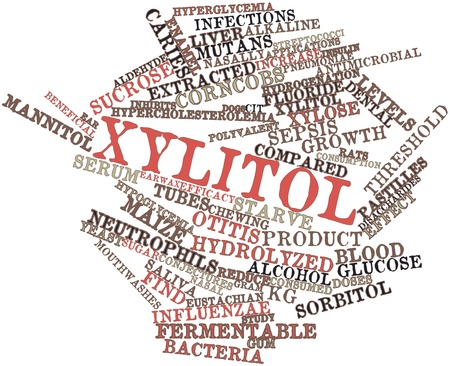 Abstract word cloud for Xylitol with related tags and terms Stock Photo - 15998148
