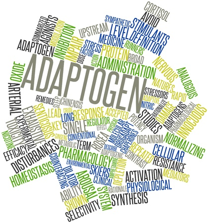 upstream: Abstract word cloud for Adaptogen with related tags and terms