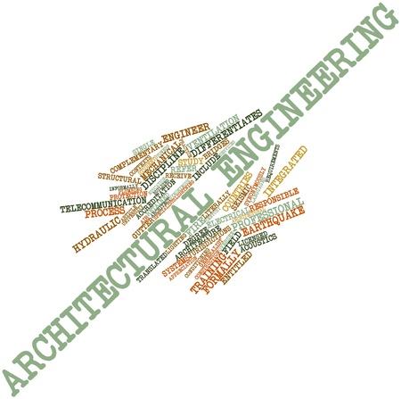 synoniem: Abstracte woord wolk voor Architectural Engineering met gerelateerde tags en termen
