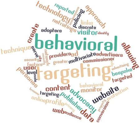 identifiable: Abstract word cloud for Behavioral targeting with related tags and terms