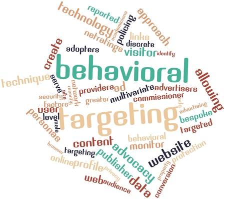 contextual: Nube palabra abstracta para behavioral targeting con etiquetas y t�rminos relacionados