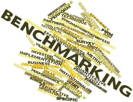 seminal: Abstract word cloud for Benchmarking with related tags and terms Stock Photo
