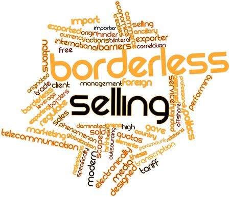 importer: Abstract word cloud for Borderless selling with related tags and terms