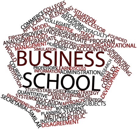 resolving: Abstract word cloud for Business school with related tags and terms