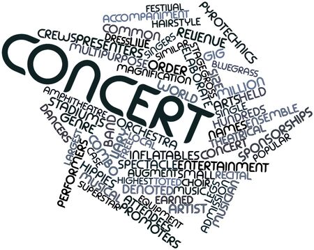 Abstract word cloud for Concert with related tags and terms Stock Photo - 16042308