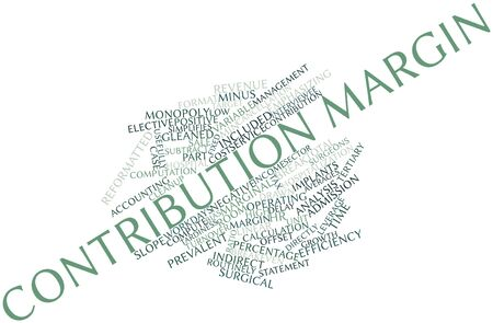 leverage: Abstract word cloud for Contribution margin with related tags and terms