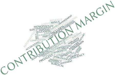 margine: Nube parola astratta per Margine di contribuzione con tag correlati e termini