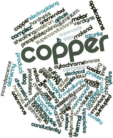 isotopes: Abstract word cloud for Copper with related tags and terms