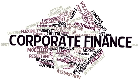 riskiness: Abstract word cloud for Corporate finance with related tags and terms