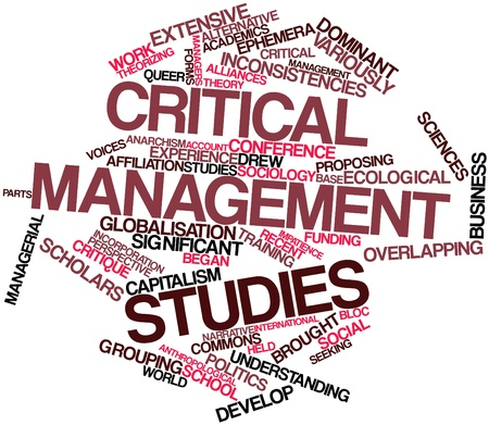 incorporation: Abstract word cloud for Critical management studies with related tags and terms