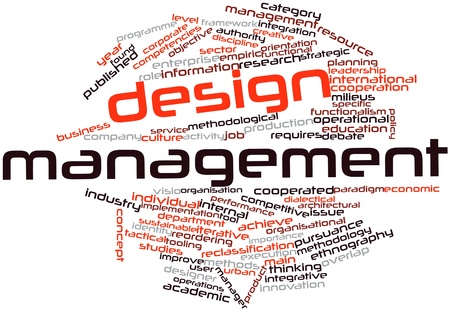 Abstract word cloud for Design management with related tags and terms Stock Photo - 16042260