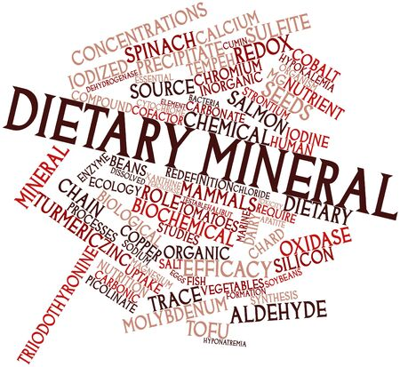 Abstract word cloud for Dietary mineral with related tags and terms Stock Photo - 16047910